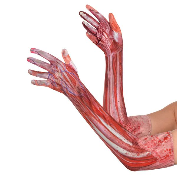 Bloody Gloves Halloween Fancy Dress Outfit Accessory